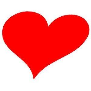 angled heart