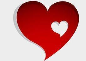 very angled heart