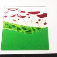 glass art platter from workshop with Jenie Yolland