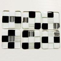 Monochrome coasters by Jenie Yolland