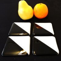 coasters black and white by Jenie Yolland
